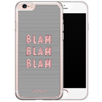 Casimoda iPhone 6/6s siliconen hoesje - Blah blah blah
