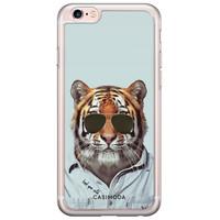 Casimoda iPhone 6/6s siliconen hoesje - Tijger wild