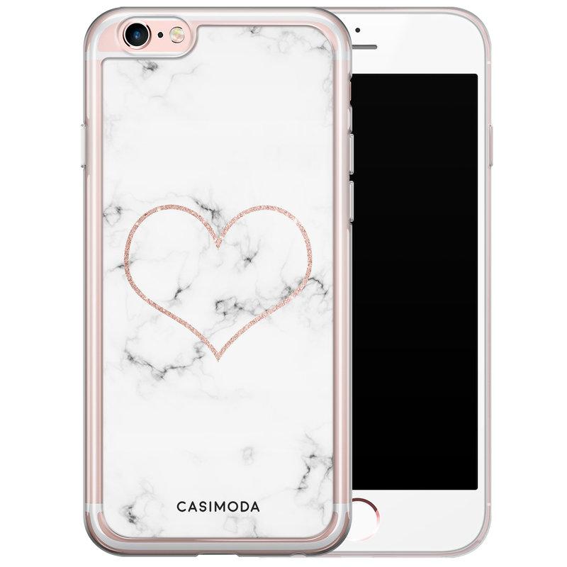 Casimoda iPhone 6/6s siliconen hoesje - Marmer hart