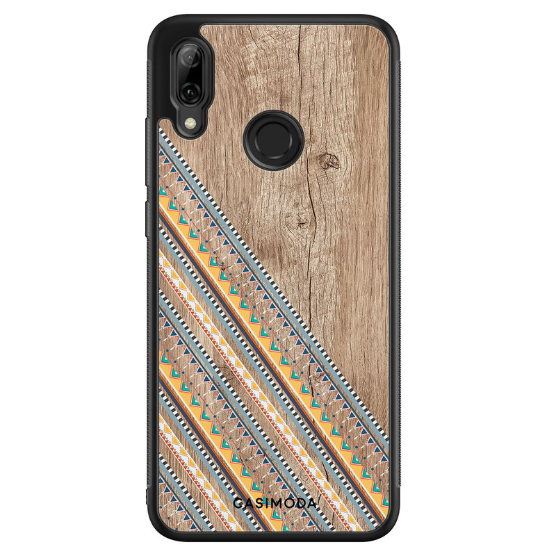Casimoda Huawei P Smart 2019 hoesje - Wooden stripes