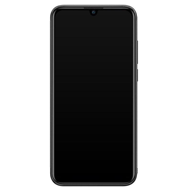 Casimoda Huawei P Smart 2019 hoesje - Mint wood chevron