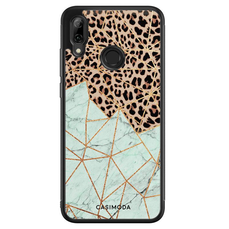 Casimoda Huawei P Smart 2019 hoesje - Luipaard marmer mint