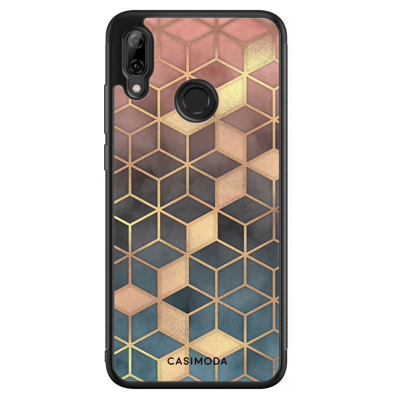Casimoda Huawei P Smart 2019 hoesje - Cubes art