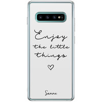 Casimoda Samsung Galaxy S10 Plus hoesje ontwerpen - Enjoy life