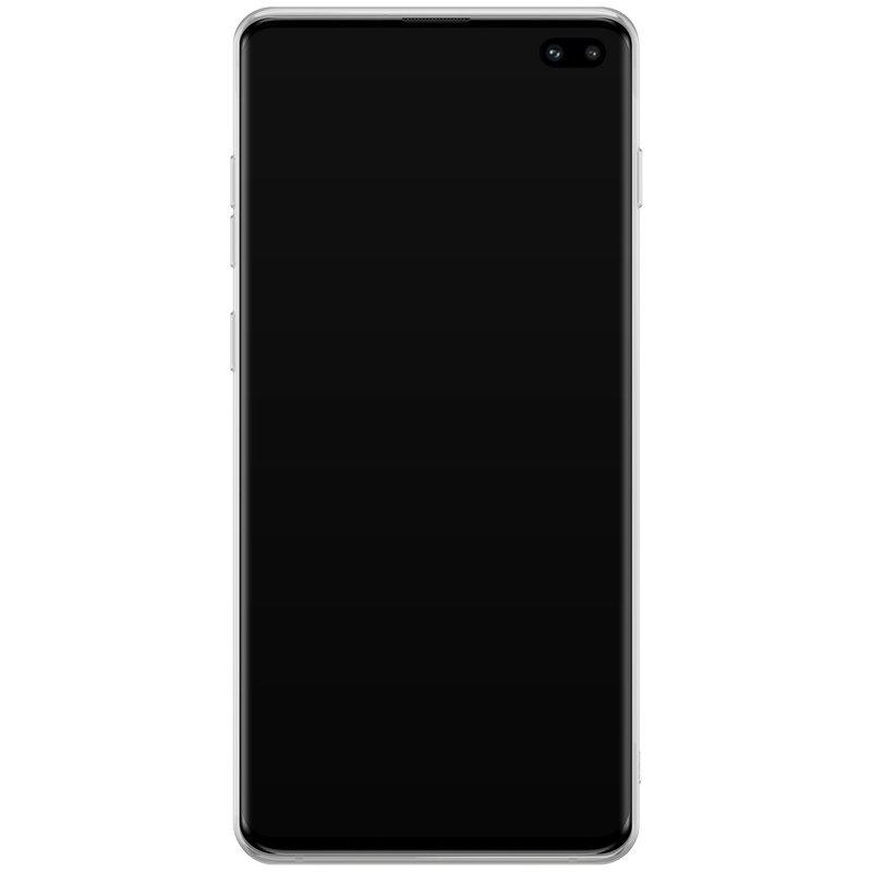 Casimoda Samsung Galaxy S10 Plus hoesje ontwerpen - Geel initialen