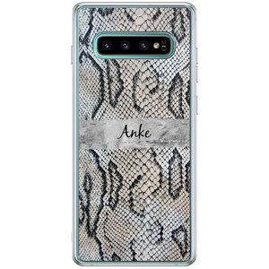 Casimoda Samsung Galaxy S10 Plus hoesje ontwerpen - Snake print