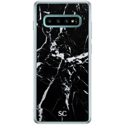 Casimoda Samsung Galaxy S10 Plus hoesje ontwerpen - Marmer zwart