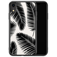 Casimoda iPhone XR siliconen hoesje - Palm leaves silhouette