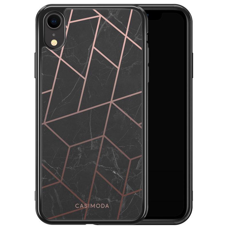 Casimoda iPhone XR siliconen hoesje - Marble grid