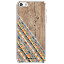 iPhone 5/5S/SE siliconen hoesje - Wooden stripes