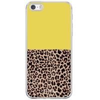 Casimoda iPhone 5/5S/SE siliconen hoesje - Luipaard geel