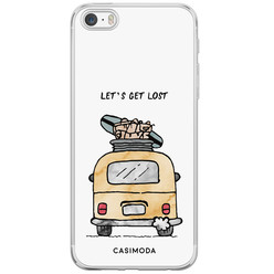 Casimoda iPhone 5/5S/SE siliconen hoesje - Let's get lost