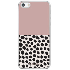 iPhone 5/5S/SE siliconen hoesje - Pink dots