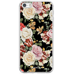 iPhone 5/5S/SE siliconen hoesje - Flowerpower