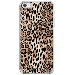 Casimoda iPhone 5/5S/SE siliconen hoesje - Golden wildcat
