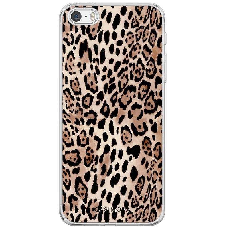 Casimoda iPhone 5/5S/SE siliconen hoesje - Golden wildcat