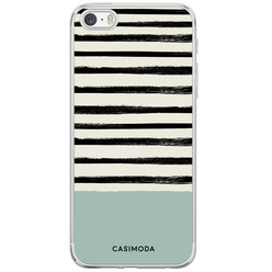 iPhone 5/5S/SE siliconen hoesje - Stripes on stripes