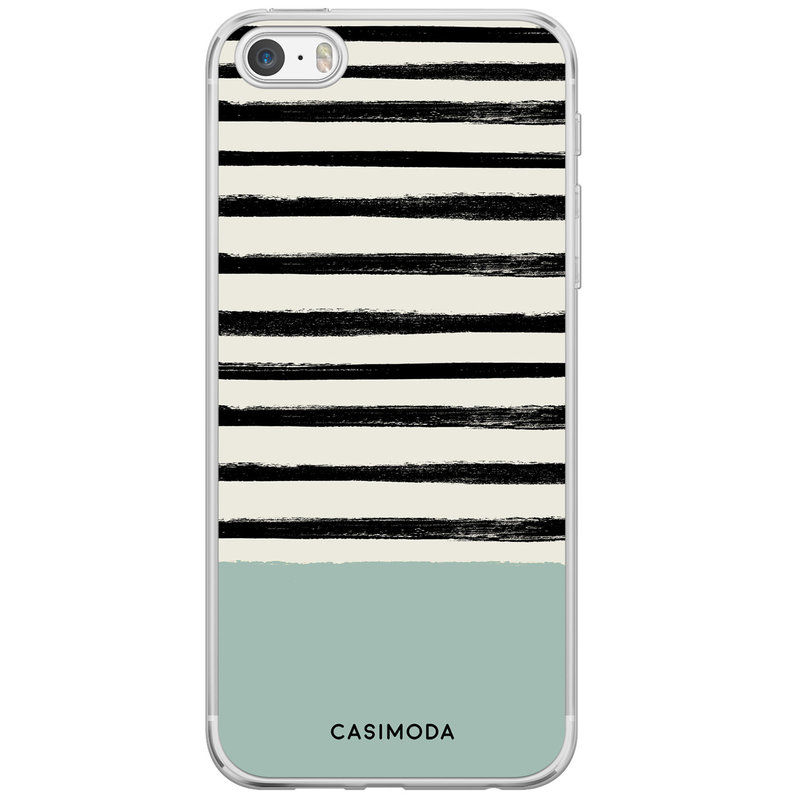Casimoda iPhone 5/5S/SE siliconen hoesje - Stripes on stripes