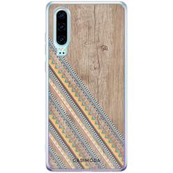 Casimoda Huawei P30 siliconen hoesje - Wooden stripes