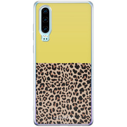 Casimoda Huawei P30 siliconen hoesje - Luipaard geel