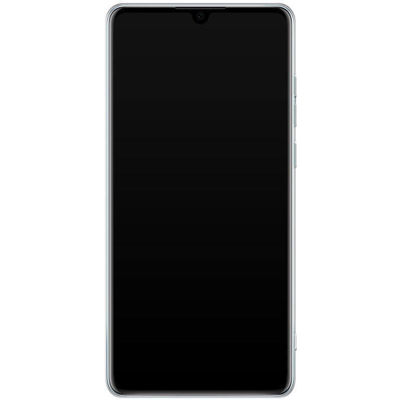 Casimoda Huawei P30 siliconen telefoonhoesje - Parelmoer marmer