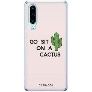 Casimoda Huawei P30 siliconen hoesje - Go sit on a cactus