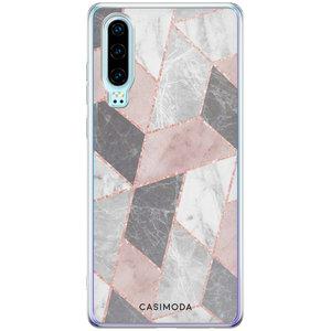 Casimoda Huawei P30 siliconen hoesje - Stone grid