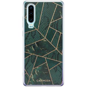 Casimoda Huawei P30 siliconen hoesje - Abstract groen