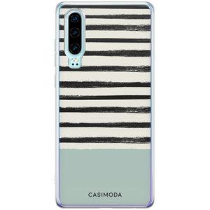 Casimoda Huawei P30 siliconen hoesje - Stripes on stripes