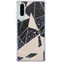 Casimoda Huawei P30 siliconen telefoonhoesje - Abstract painted
