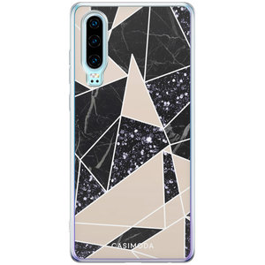 Casimoda Huawei P30 siliconen hoesje - Abstract painted