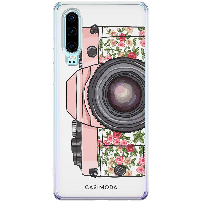 Casimoda Huawei P30 siliconen telefoonhoesje - Hippie camera