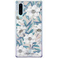 Casimoda Huawei P30 siliconen telefoonhoesje - Touch of flowers