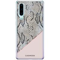 Casimoda Huawei P30 siliconen hoesje - Snake print