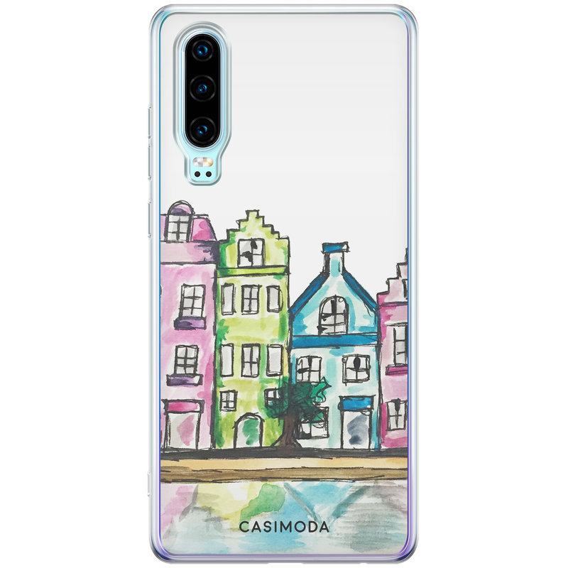 Casimoda Huawei P30 siliconen telefoonhoesje - Amsterdam