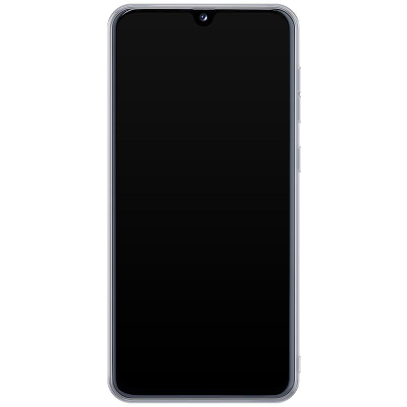 Casimoda Samsung Galaxy A40 hoesje ontwerpen - Luipaard blauw initialen
