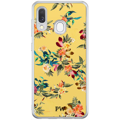 Casimoda Samsung Galaxy A40 hoesje ontwerpen - Floral for days