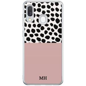 Casimoda Samsung Galaxy A40 hoesje ontwerpen - Pink dots