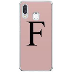 Casimoda Samsung Galaxy A40 hoesje ontwerpen - Roze initialen