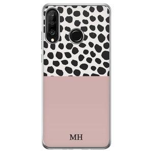 Casimoda Huawei P30 Lite hoesje ontwerpen - Pink dots