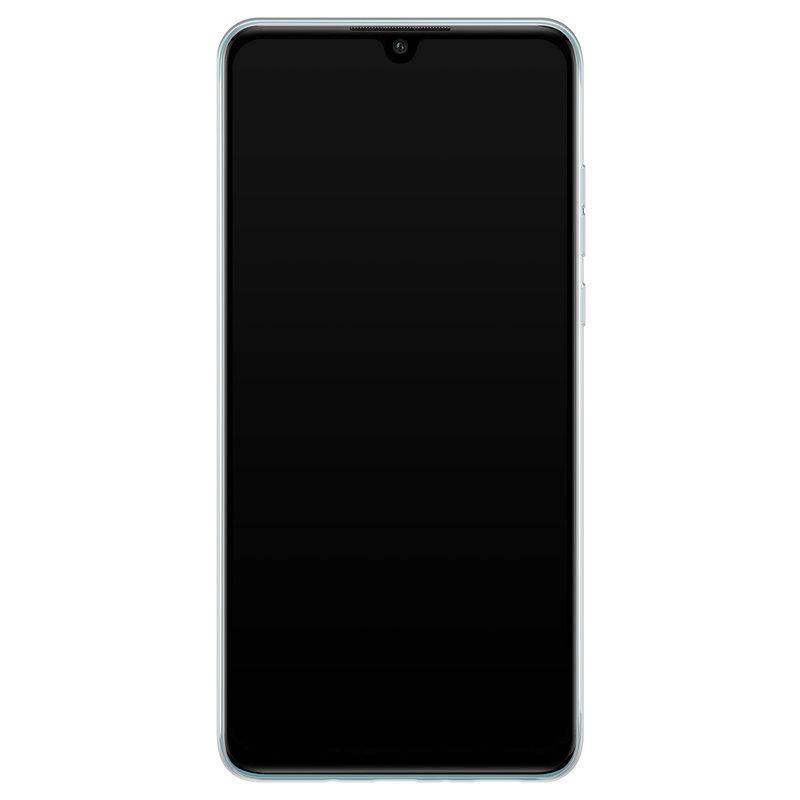 Casimoda Huawei P30 Lite hoesje ontwerpen - Luipaard blauw initialen