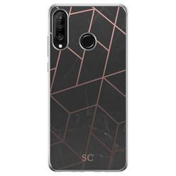 Casimoda Huawei P30 Lite hoesje ontwerpen - Marble grid