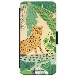 Casimoda iPhone XR flipcase - Luipaard jungle