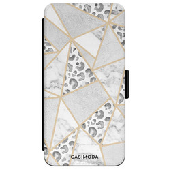 Casimoda iPhone XR flipcase - Stone & leopard