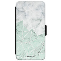 Casimoda iPhone XR flipcase - Marmer mint mix
