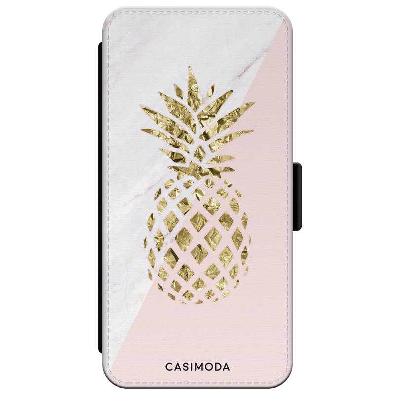 Casimoda iPhone XR flipcase - Ananas