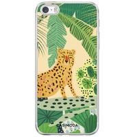 Casimoda iPhone 5/5S/SE siliconen hoesje - Luipaard jungle