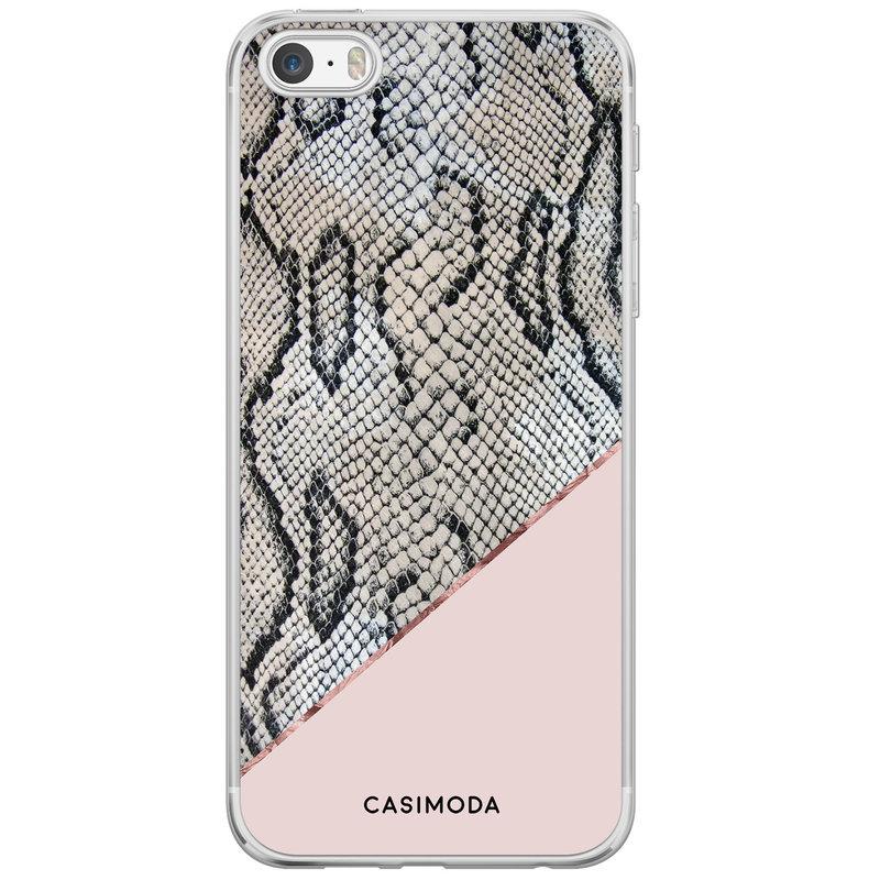 Casimoda iPhone 5/5S/SE siliconen hoesje - Snake print