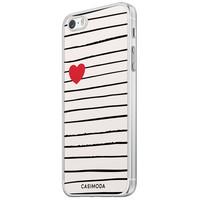 Casimoda iPhone 5/5S/SE siliconen hoesje - Heart queen