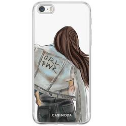Casimoda iPhone 5/5S/SE siliconen hoesje - GRL PWR